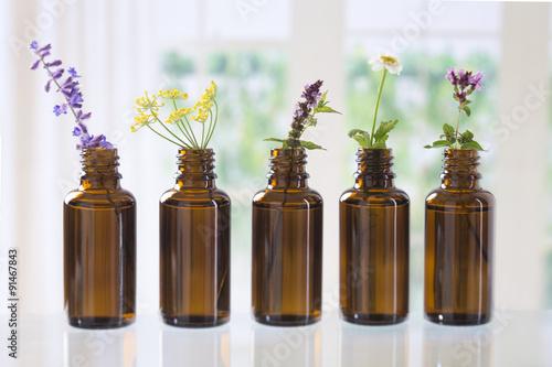 Tuinposter Lavendel Huiles essentielles