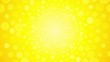 Rotating bright yellow background with circles summer sun endless loop