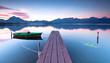 abendliche Stille am Bootssteg
