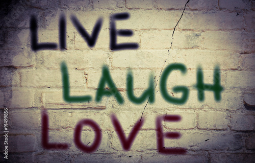 Poster Live Laugh Love Concept