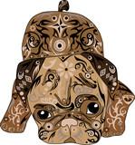 The pug a dog, an animal lies, pug drawing,