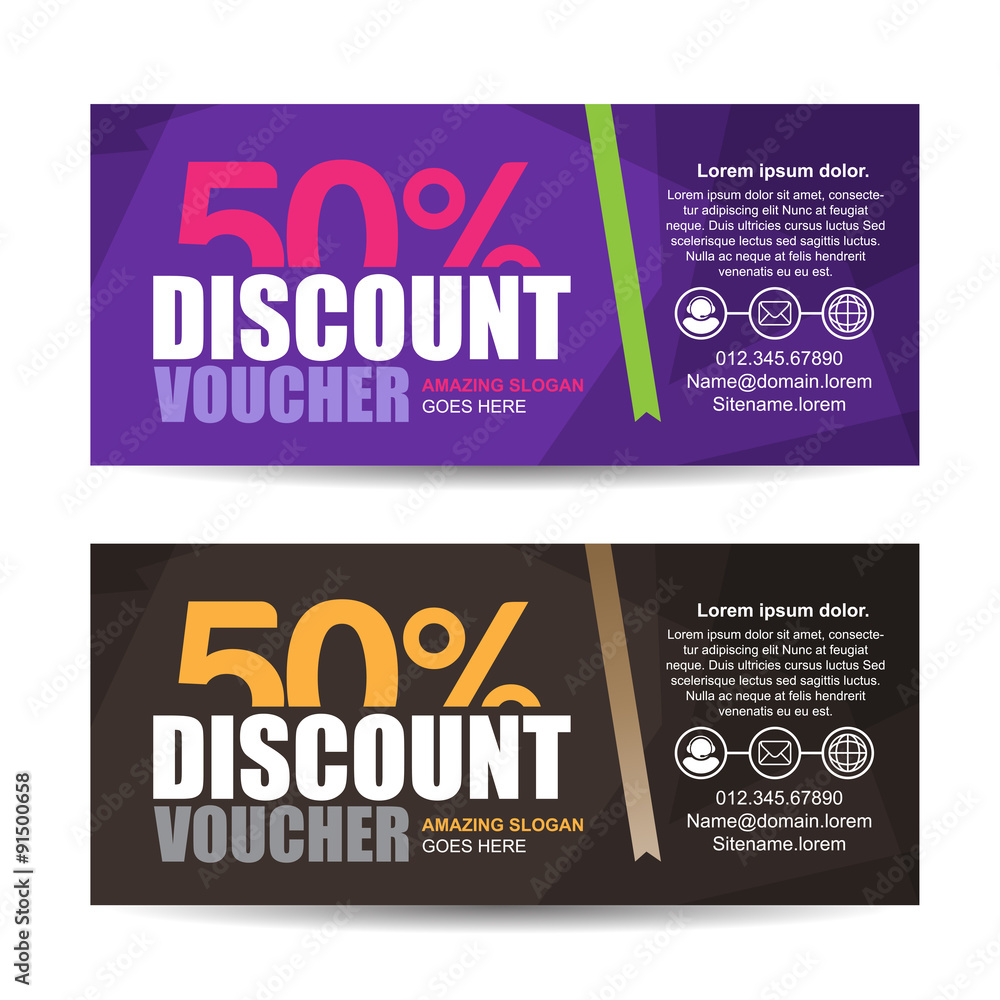 Discount vouchers and coupons