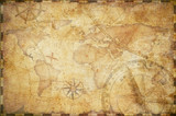 Fototapety old nautical treasure map background