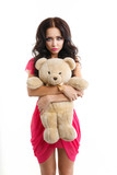 Barbie girl with teddy bear