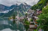 Stunning alpine village called Hallstatt, Salzkammergut, Austria, Europe - 91515058