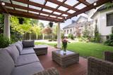 Fototapety Luxury garden furniture