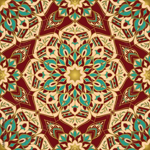 Staande foto Kunstmatig African red and gold pattern.