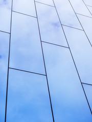 Nowoczesna architektura szczegóły szklana fasada
