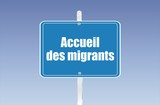 panneau accueil de migrants 17092015 poster