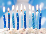 Fototapety Blue birthday candles