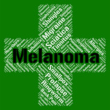 Melanoma Word Represents Skin Cancer And Affliction poster