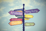 Fototapety Directional City Signs