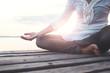 Leinwanddruck Bild - deep meditation open mind