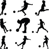 woman play soccer