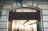 Fototapety Black singboard shop
