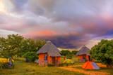 Sunset landscape in Zambia - 91583615