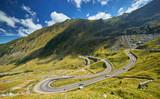 Winding Road Landscape, Transfagarasan, ROMANIA.