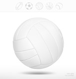 Volleyball ball on white background. Vector illustration