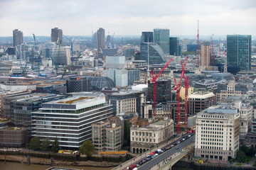 LONDON, UK - SEPTEMBER 17, 2015: London panorama with office buildings