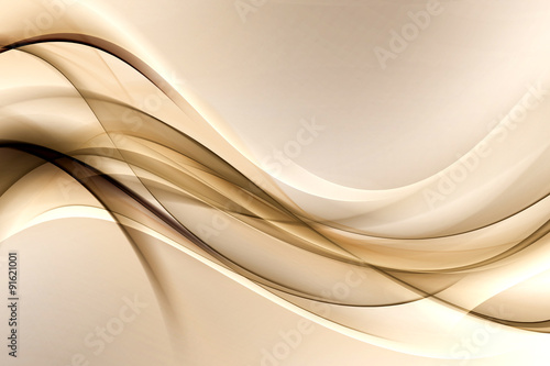 fototapeta na ścianę brown gold waves