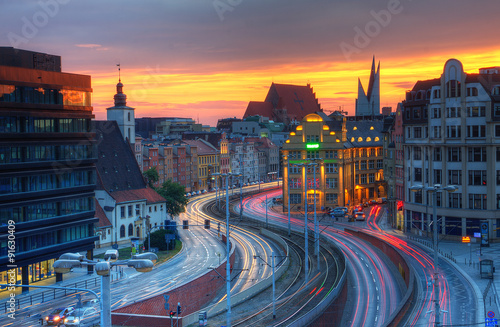 Zdjęcia na płótnie, fototapety na wymiar, obrazy na ścianę : Widok miejski Wrocławia