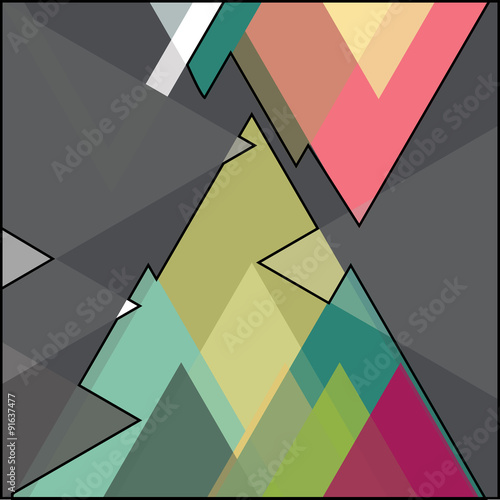 vector geometric background © librebird