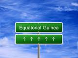 Equatorial Guinea welcome travel landmark landscape map tourism immigration refugees migrant business. poster