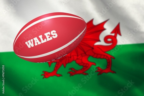 Poster Composite image of wales rugby ball