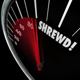 Shrewd Speedometer Business Savvy Knowledge Experience Cunning poster