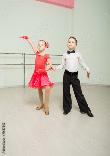 obraz PCV Dancing, ballroom dancing, dance studio, children