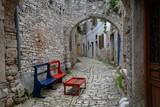 Fototapety Gasse in der Altstadt von Bale, Istrien, Kroatien