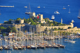 View of Bodrum harbor and Castle of St. Peter