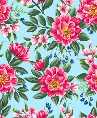 Floral seamless pattern - 91704889