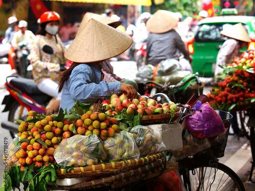 obraz lub plakat Street vendors, Vietnam