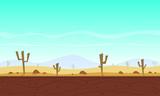 Desert cartoon game background