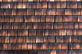 Abstract wooden texture of cedar shingles