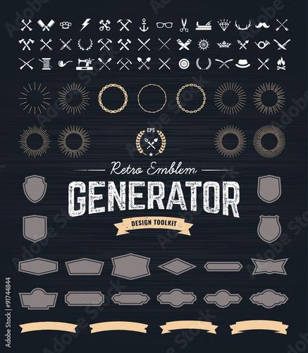 Retro Emblem Generator
