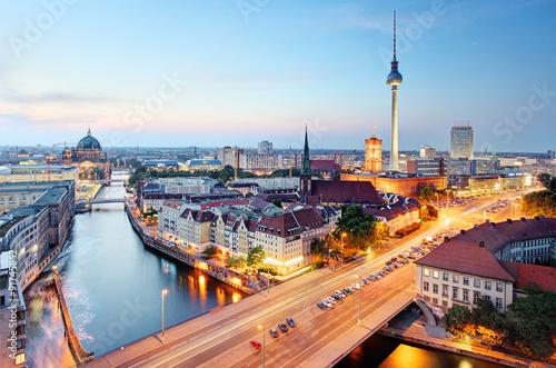 Plagát, Obraz Berlin skyline