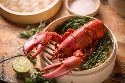 Canvastavla Steamed lobster