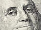 Benjamin Franklin's face on the US 100 dollar bill - 91765030