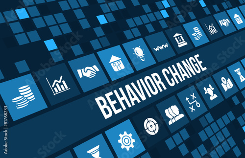 Behavior Change concept image with business icons and copyspace
