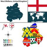 West Midlands, United Kingdom poster