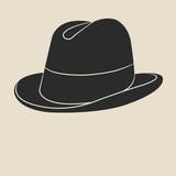 Tweed hat label.