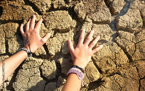 Hands on arid land