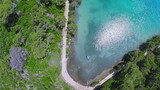 Aerial copter shoot of the sea lake in National park, Mljet poster