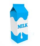 Blue and white milk box