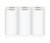 White Tissue Paper includes 6 roll in pack blank label and no text for mock up packaging