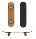 Skateboard deck on a white background