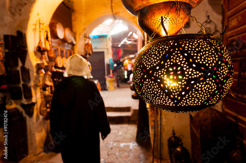 Papiers peints Maroc Lantern Shop Marrakech Souk