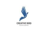 Flying Bird Logo abstract design vector template. Phoenix concep - 91793845